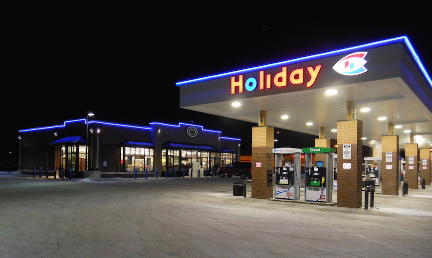 Holiday Gas station photograph